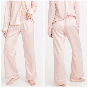 Abercrombie and Fitch blush Satin pajama set